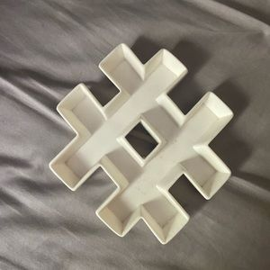 Hashtag jewelry tray